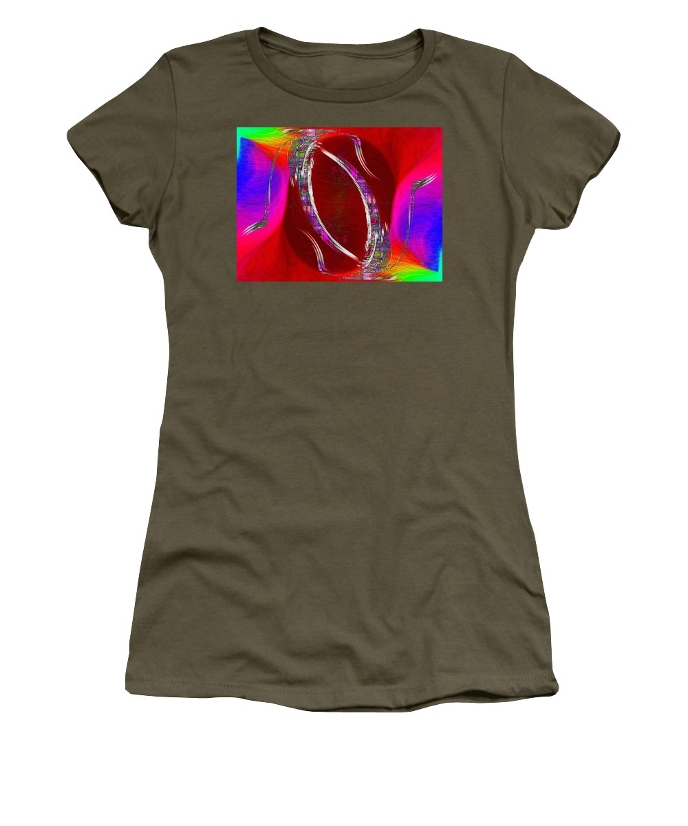 Abstract Women's T-Shirt (Athletic Fit) featuring the digital art Abstract Cubed 233 by Tim Allen
