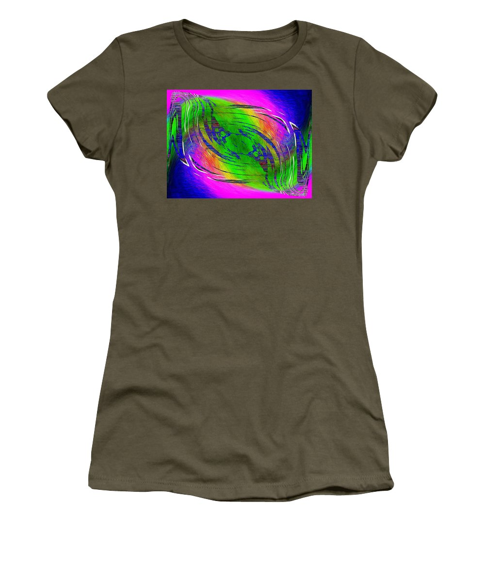 Abstract Women's T-Shirt (Athletic Fit) featuring the digital art Abstract Cubed 234 by Tim Allen