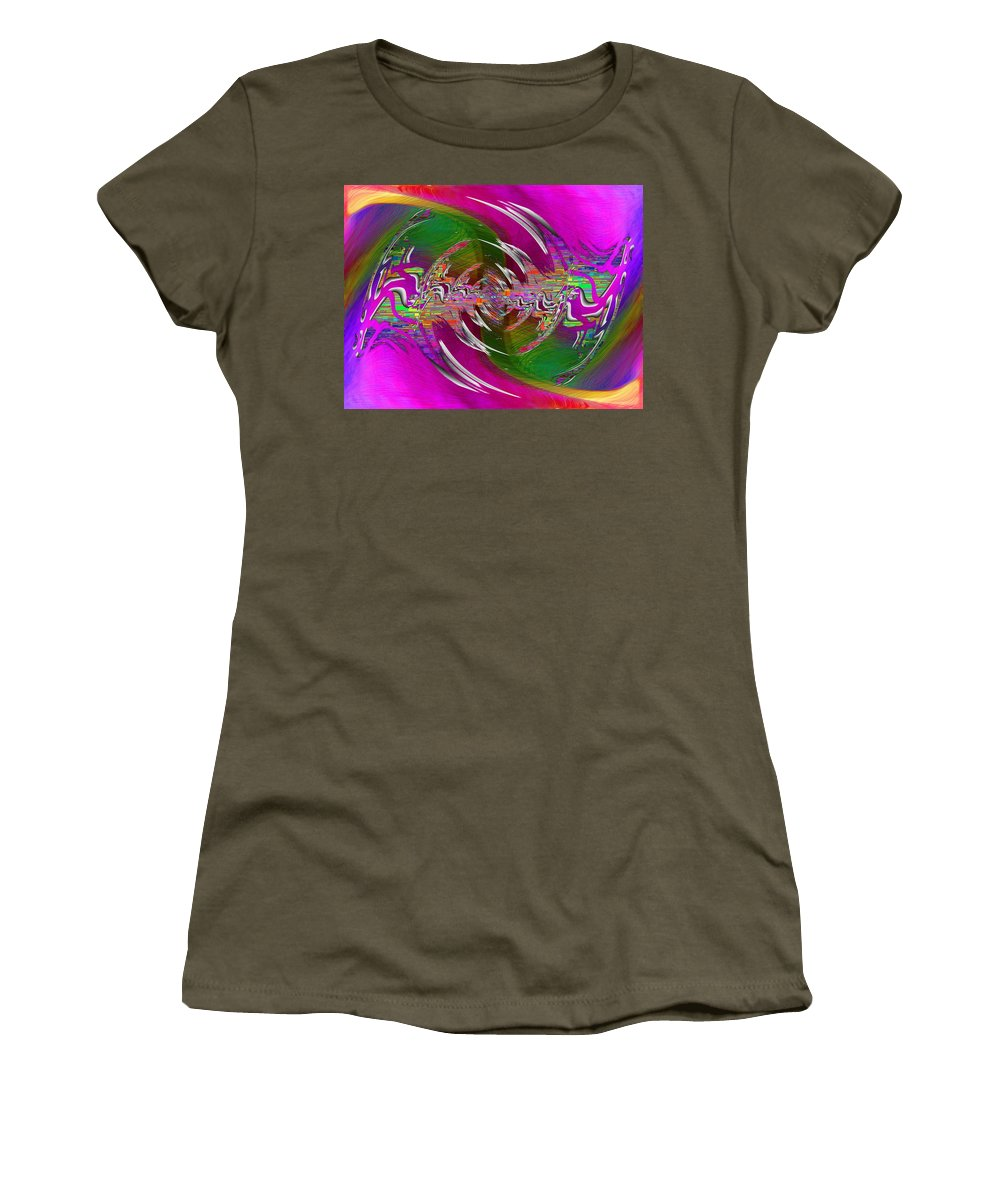 Abstract Women's T-Shirt featuring the digital art Abstract Cubed 266 by Tim Allen