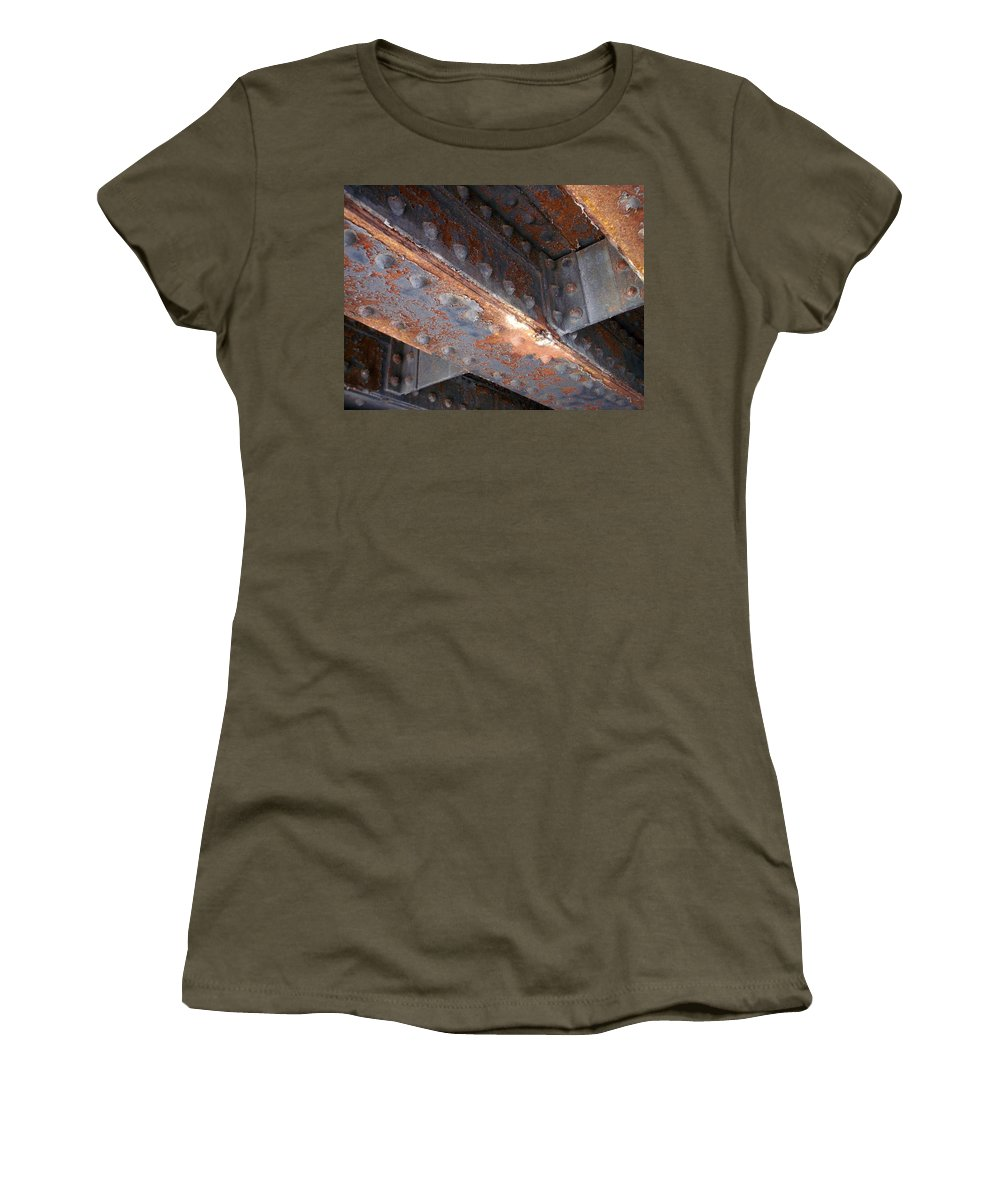 Urban Women's T-Shirt featuring the photograph Abstract Rust 3 by Anita Burgermeister
