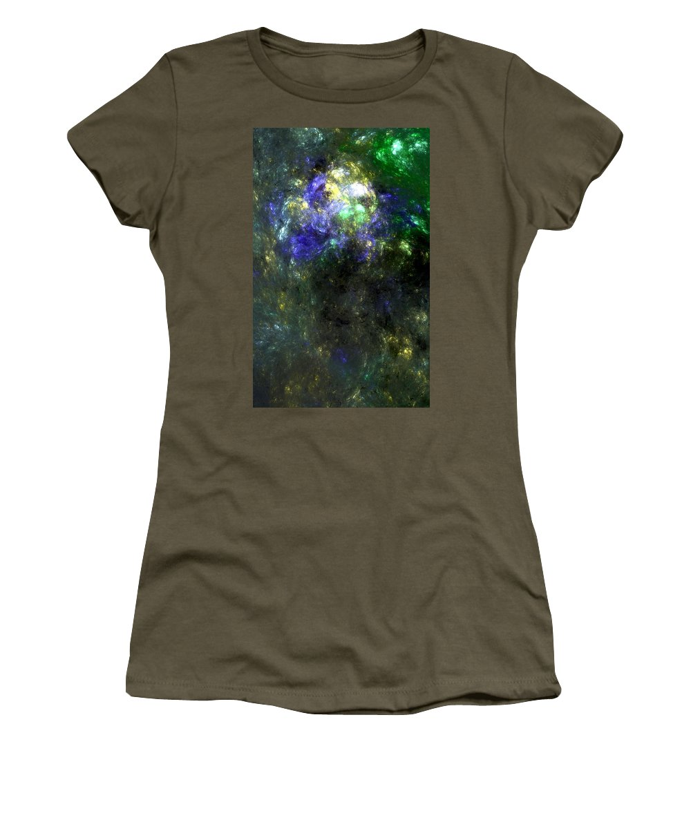 Abstract Expressionism Women's T-Shirt (Athletic Fit) featuring the digital art Abstract08-14-09 by David Lane