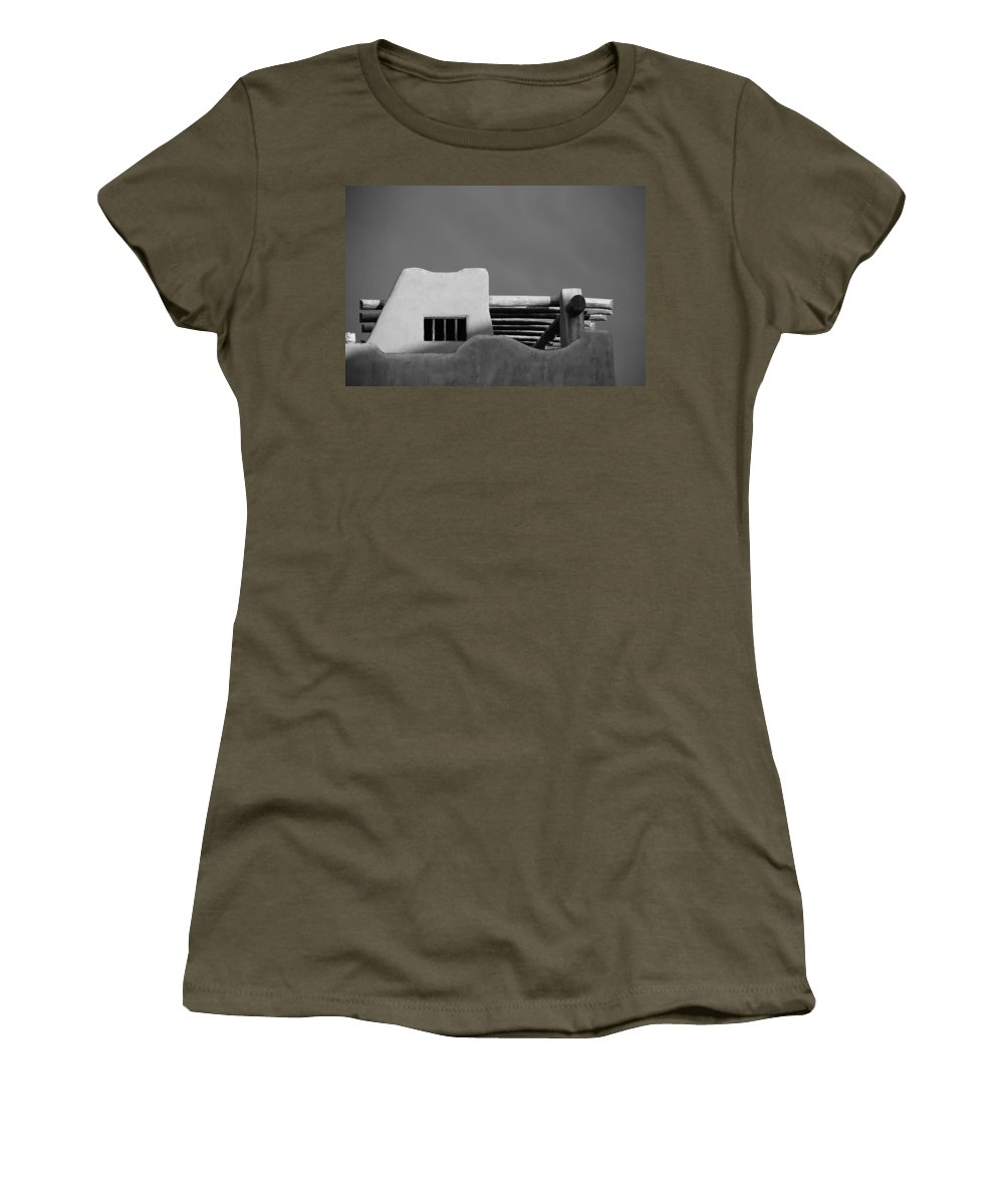 Architecture Women's T-Shirt featuring the photograph Adobe Turrett by Rob Hans