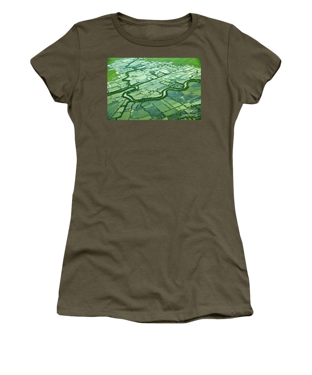 Island Women's T-Shirt (Athletic Fit) featuring the photograph Aerial Shot by Charuhas Images