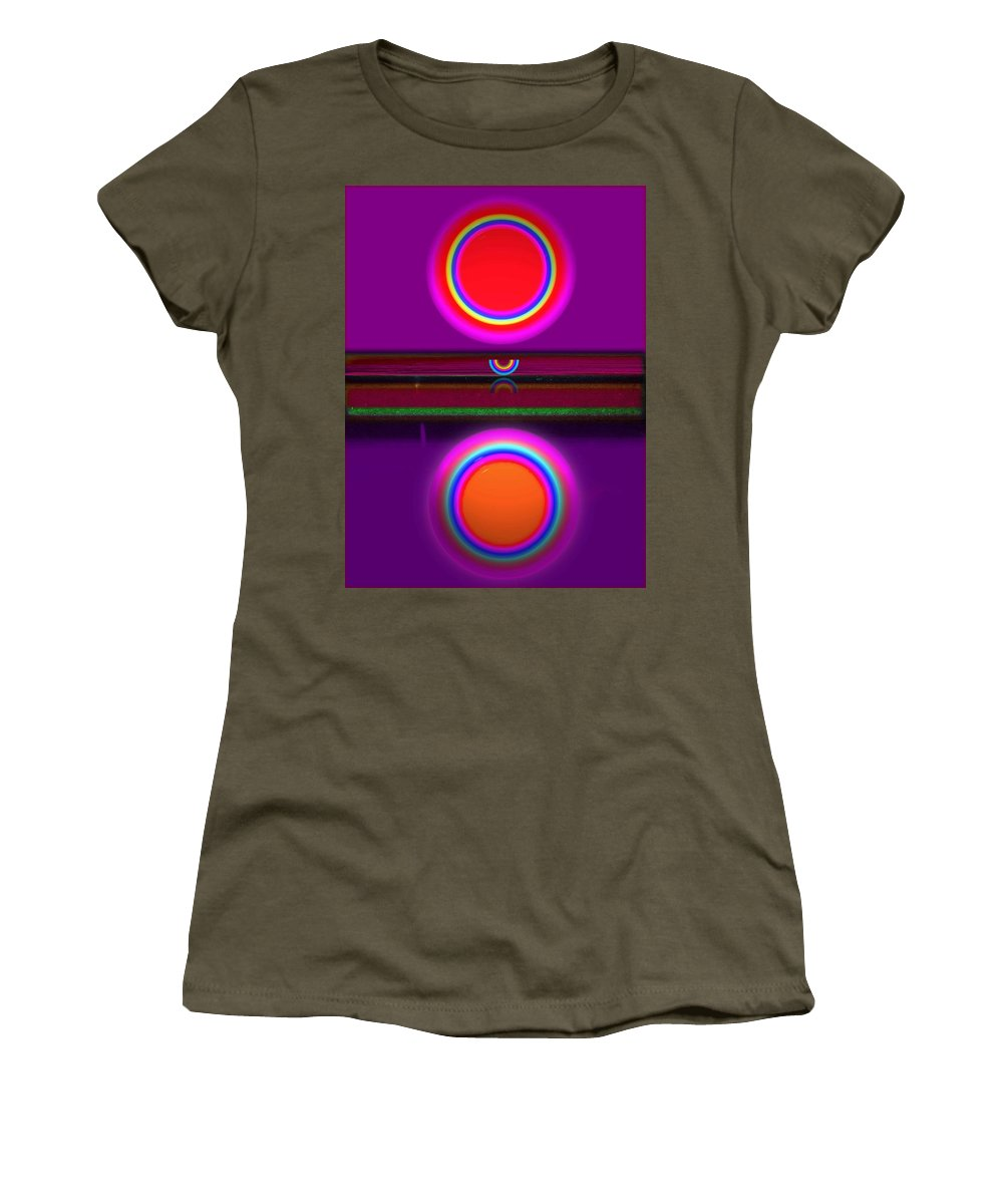 African Women's T-Shirt featuring the painting African Sunset by Charles Stuart
