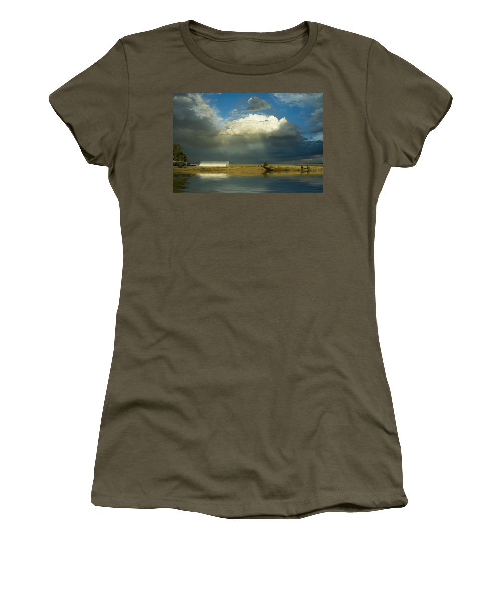 Storm Women's T-Shirt featuring the photograph After The Storm by Jerry McElroy