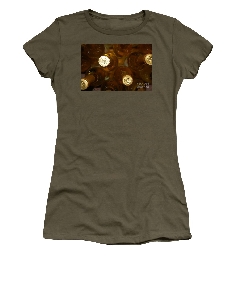 Wine Women's T-Shirt (Athletic Fit) featuring the photograph Aged Well by Debbi Granruth