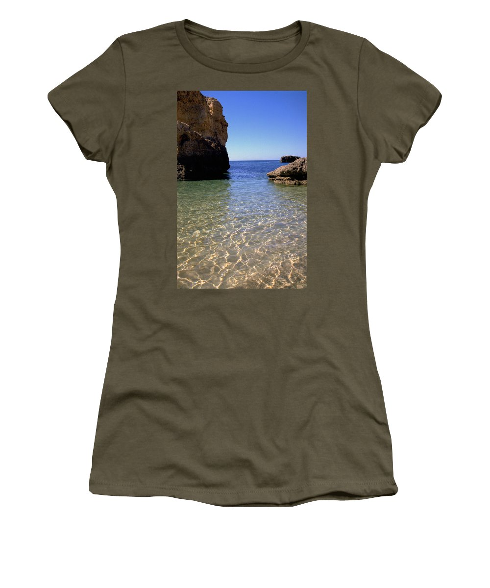 Algarve Women's T-Shirt (Athletic Fit) featuring the photograph Algarve I by Flavia Westerwelle