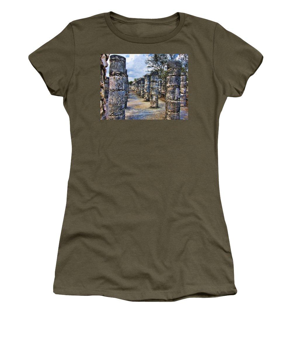 Columns Women's T-Shirt featuring the photograph Alignment by Douglas Barnard