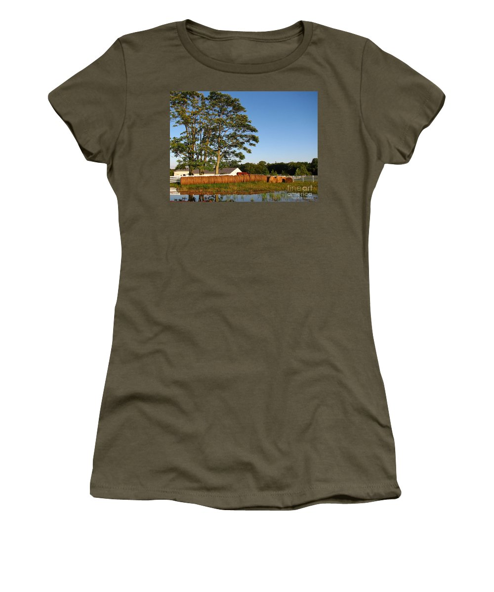 Landscape Women's T-Shirt (Athletic Fit) featuring the photograph All In A Row by Todd A Blanchard