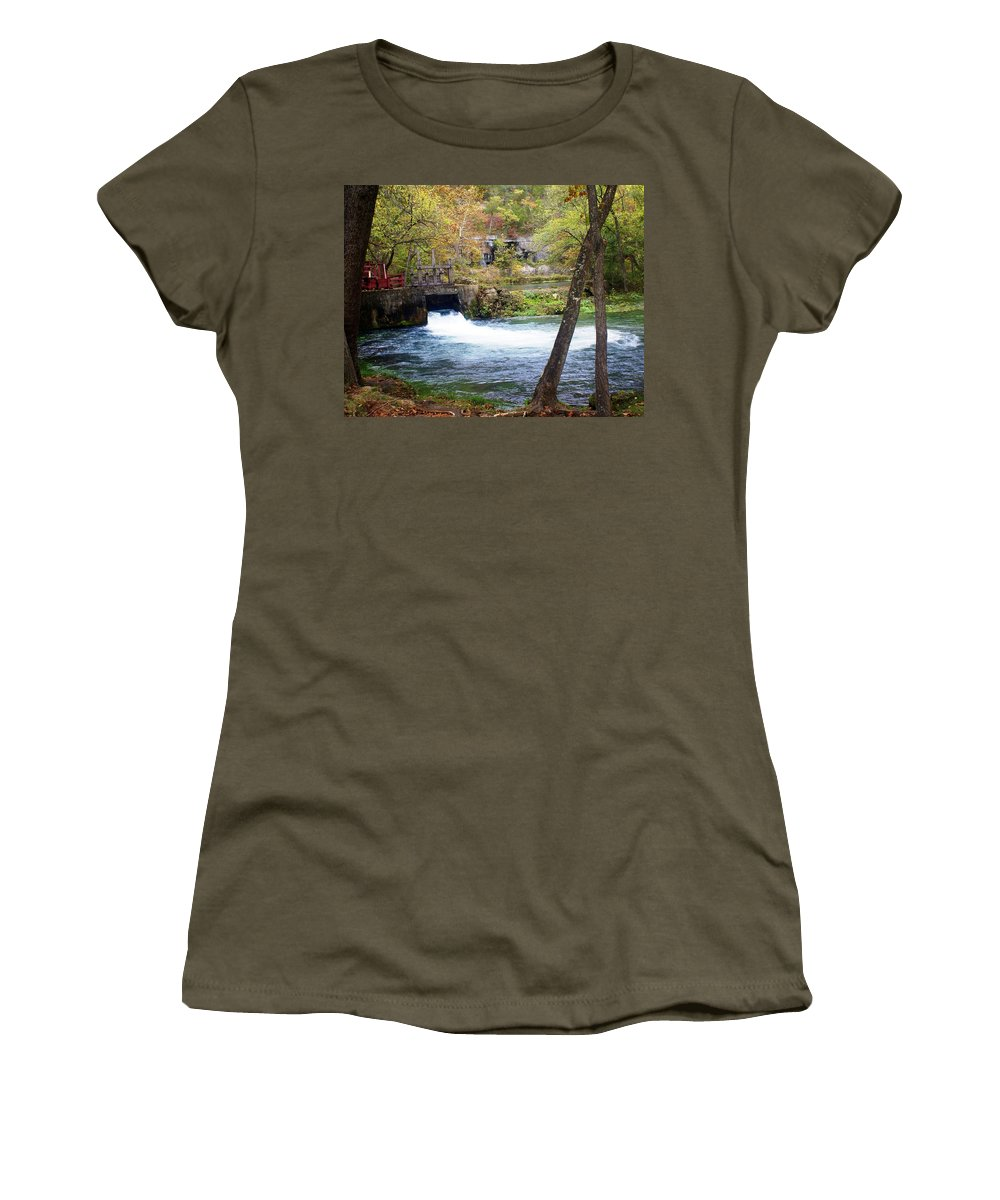 Alley Spring Women's T-Shirt featuring the photograph Alley Spring by Marty Koch