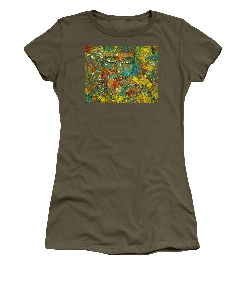 Romantic Women's T-Shirt (Athletic Fit) featuring the painting Allure Of Love by Natalie Holland