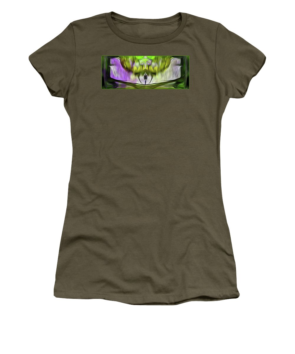 Fractal Women's T-Shirt featuring the digital art Alone by Lorant Zsolt