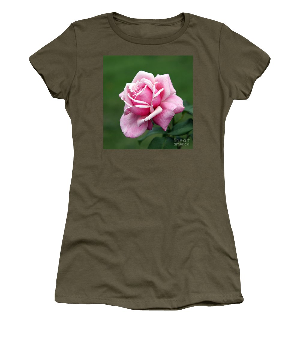 Rose Women's T-Shirt (Athletic Fit) featuring the photograph Alone Time by Amanda Barcon