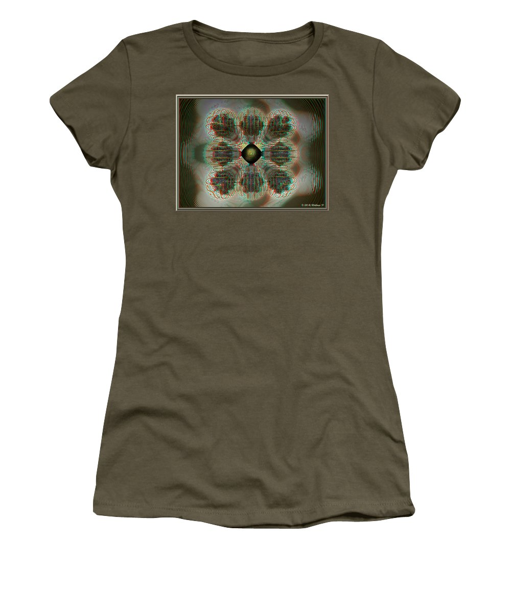 3d Women's T-Shirt featuring the photograph Alpha Waves - View With Red-cyan 3d Glasses by Brian Wallace