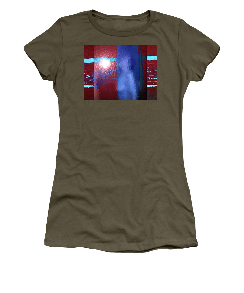 Abstract Women's T-Shirt featuring the photograph Alternate Reality Meets Naked Truth 3 by Lenore Senior