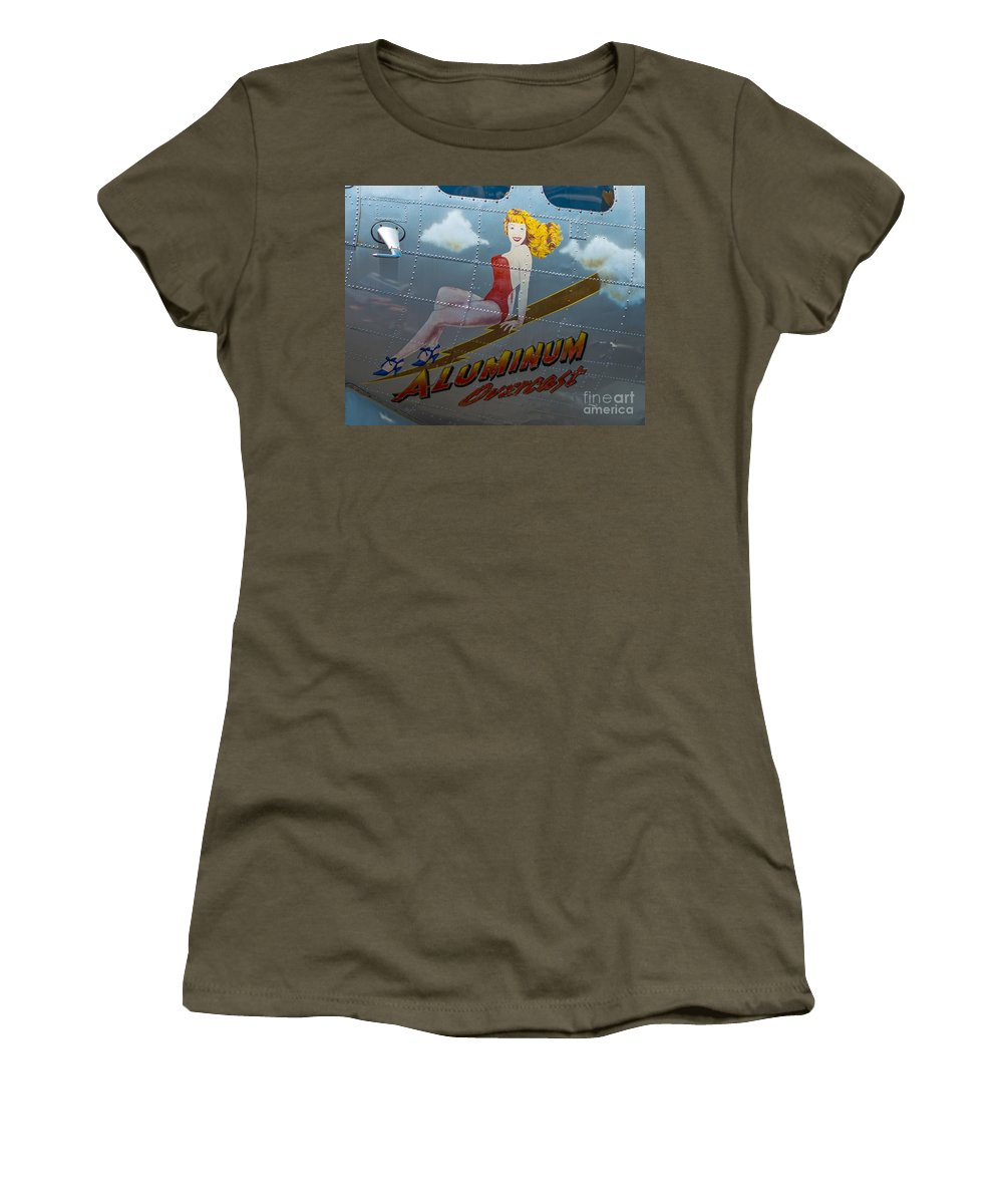 Nose Art Women's T-Shirt featuring the photograph Aluminum Overcast by Stephen Whalen