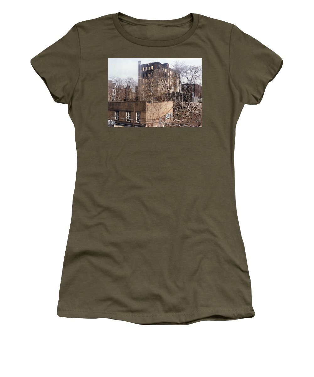 Bronx Women's T-Shirt featuring the photograph American Ghetto - The South Bronx In New York City by Daniel Hagerman
