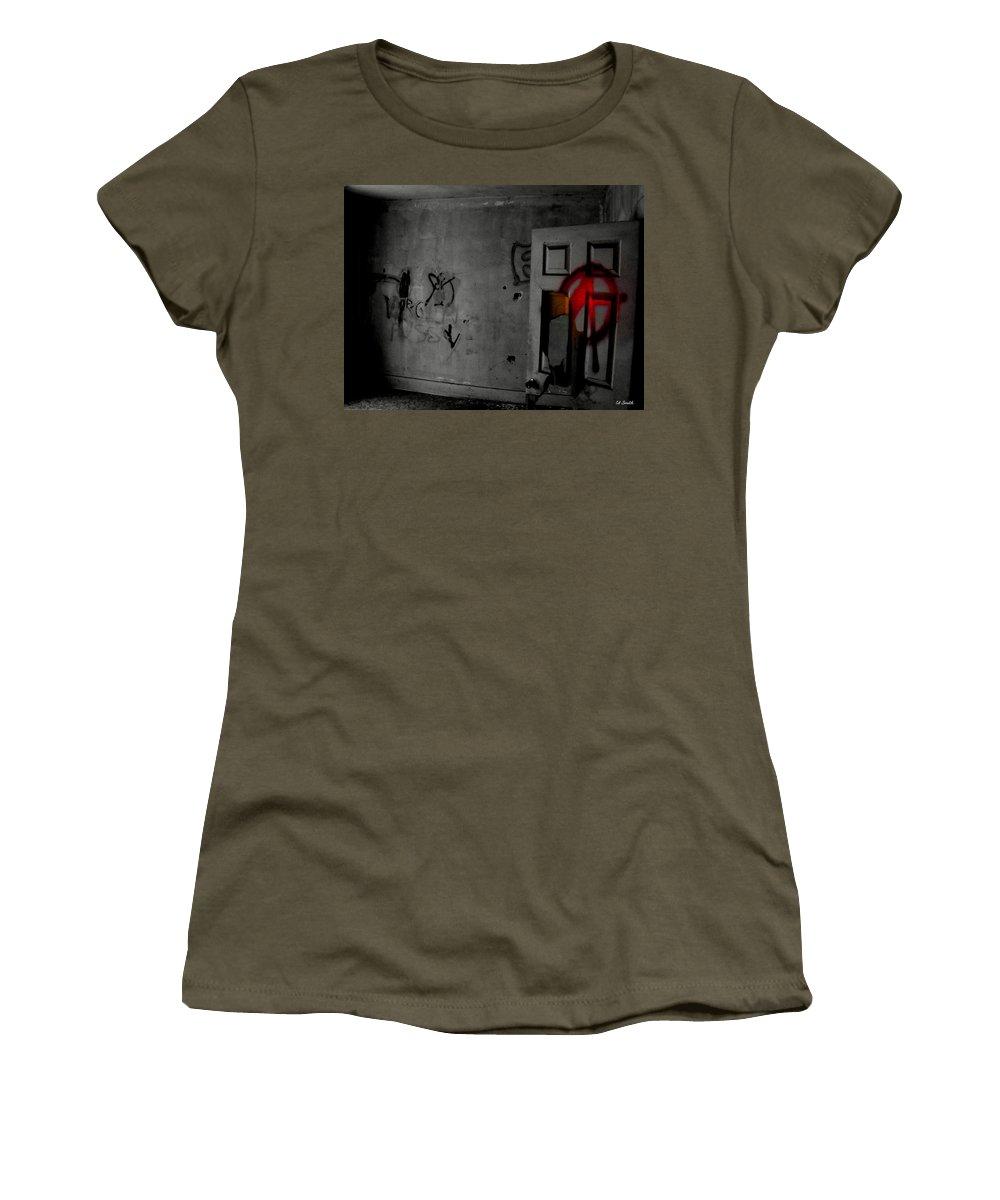 American Graffiti 6 Women's T-Shirt featuring the photograph American Graffiti 6 - Virgin Sacrifice by Ed Smith