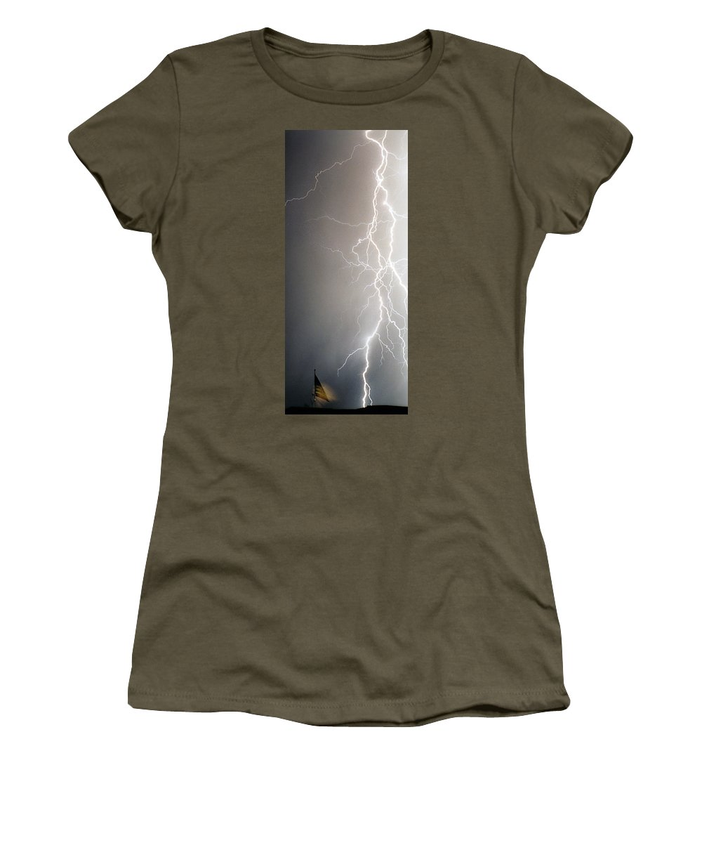 Usa Women's T-Shirt featuring the photograph American Storm by James BO Insogna