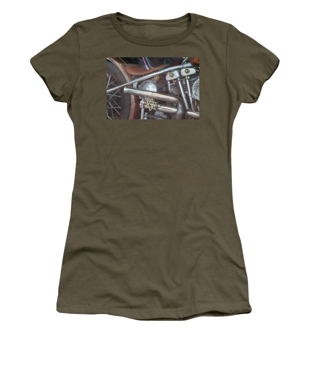 Motorcycle Women's T-Shirt (Athletic Fit) featuring the photograph Ami's Bike by Rob Hans