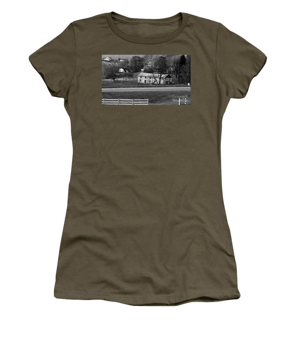 Amish Women's T-Shirt featuring the photograph Amish Farm by Kathleen Struckle