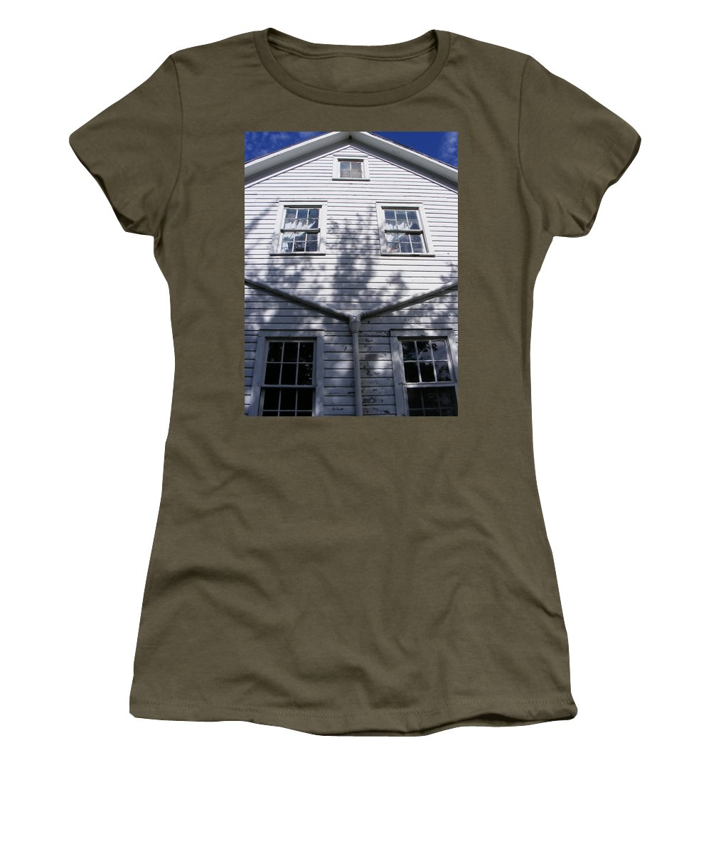 Amityville Women's T-Shirt (Athletic Fit) featuring the photograph Amityville by Ed Smith