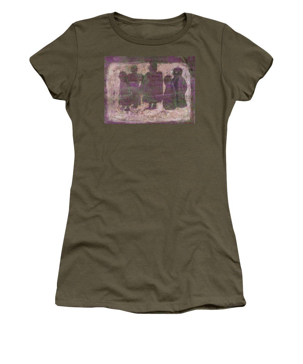 Ancestors Women's T-Shirt featuring the painting Ancestors by Wayne Potrafka