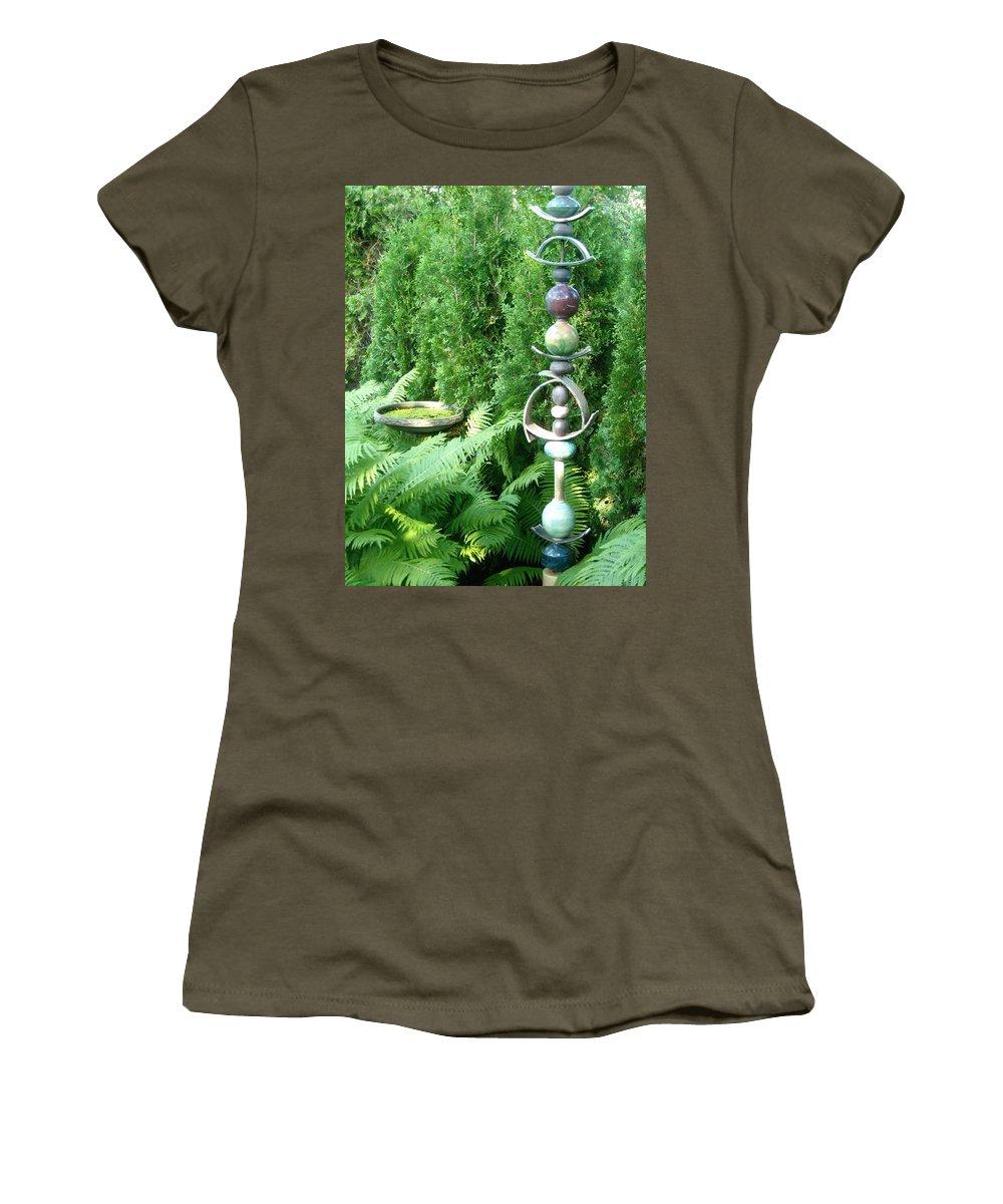 Sculpture Women's T-Shirt featuring the photograph And Sculpture Garden by Line Gagne