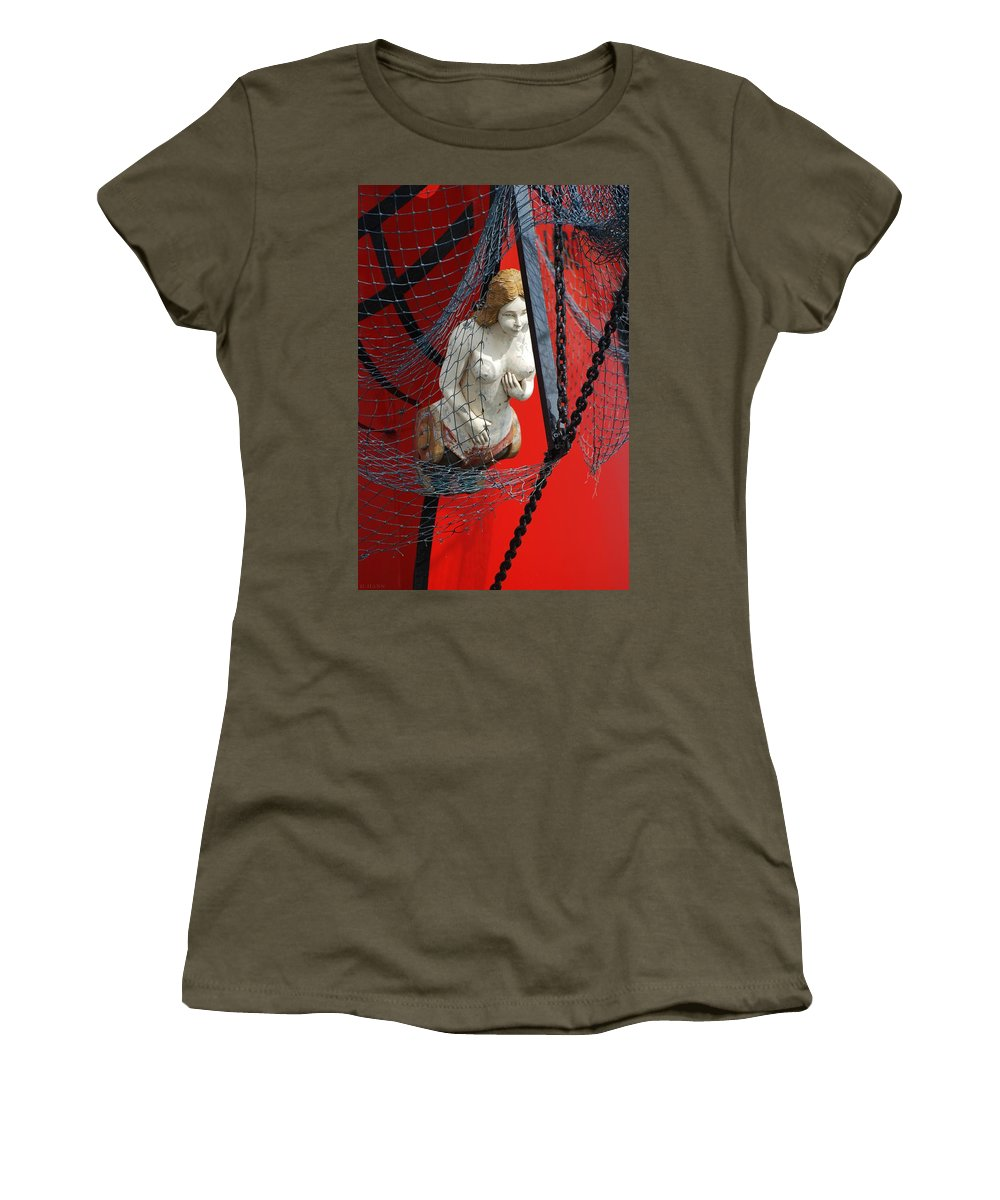 Ship Women's T-Shirt (Athletic Fit) featuring the photograph Angel Of The Seas by Rob Hans