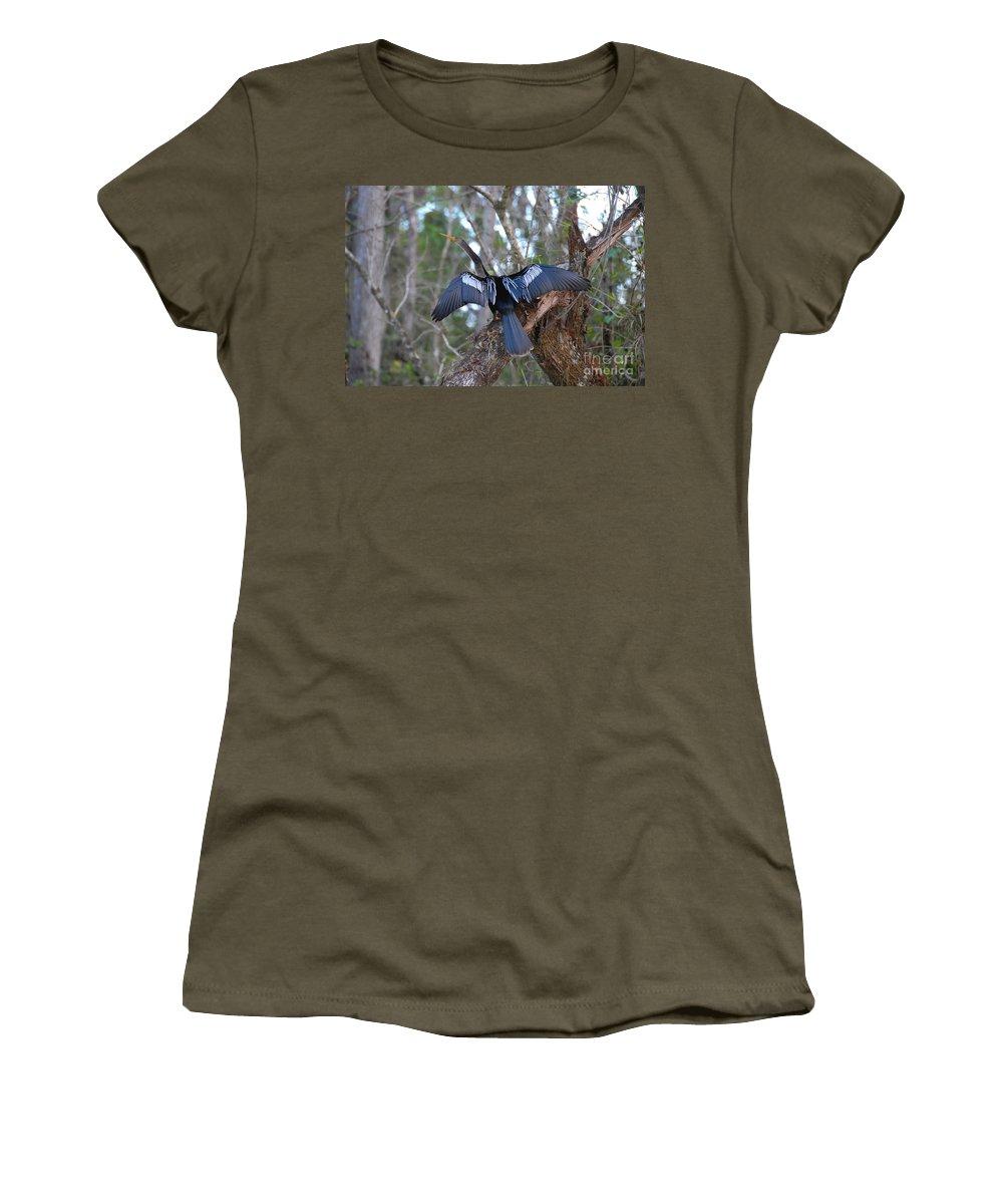 Anhinga Women's T-Shirt featuring the photograph Anhinga by David Lee Thompson