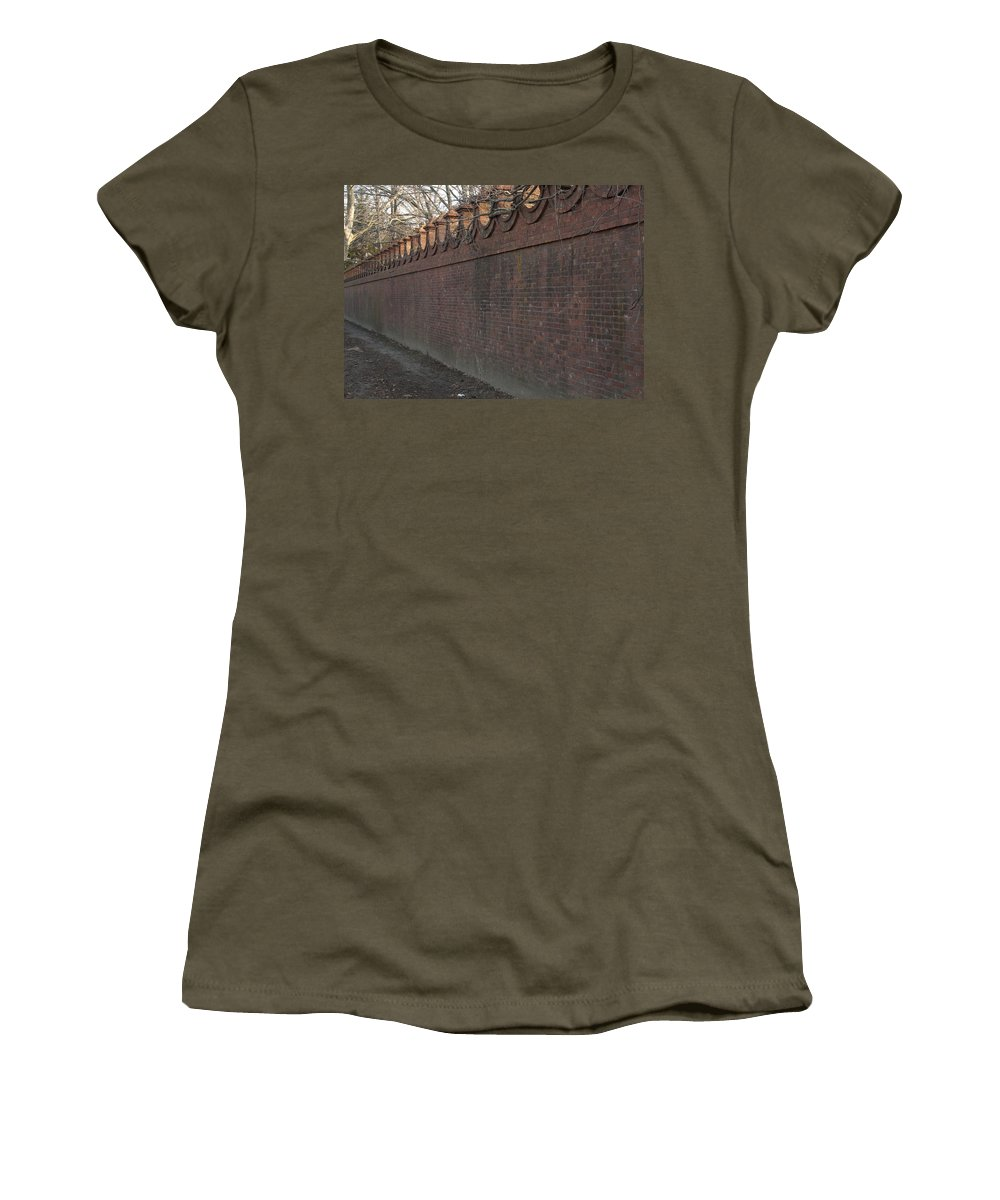 Wall Women's T-Shirt featuring the photograph Another Brick In The Wall by Steven Natanson