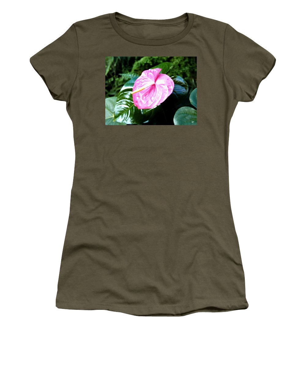 1986 Women's T-Shirt (Athletic Fit) featuring the digital art Anthurium by Will Borden