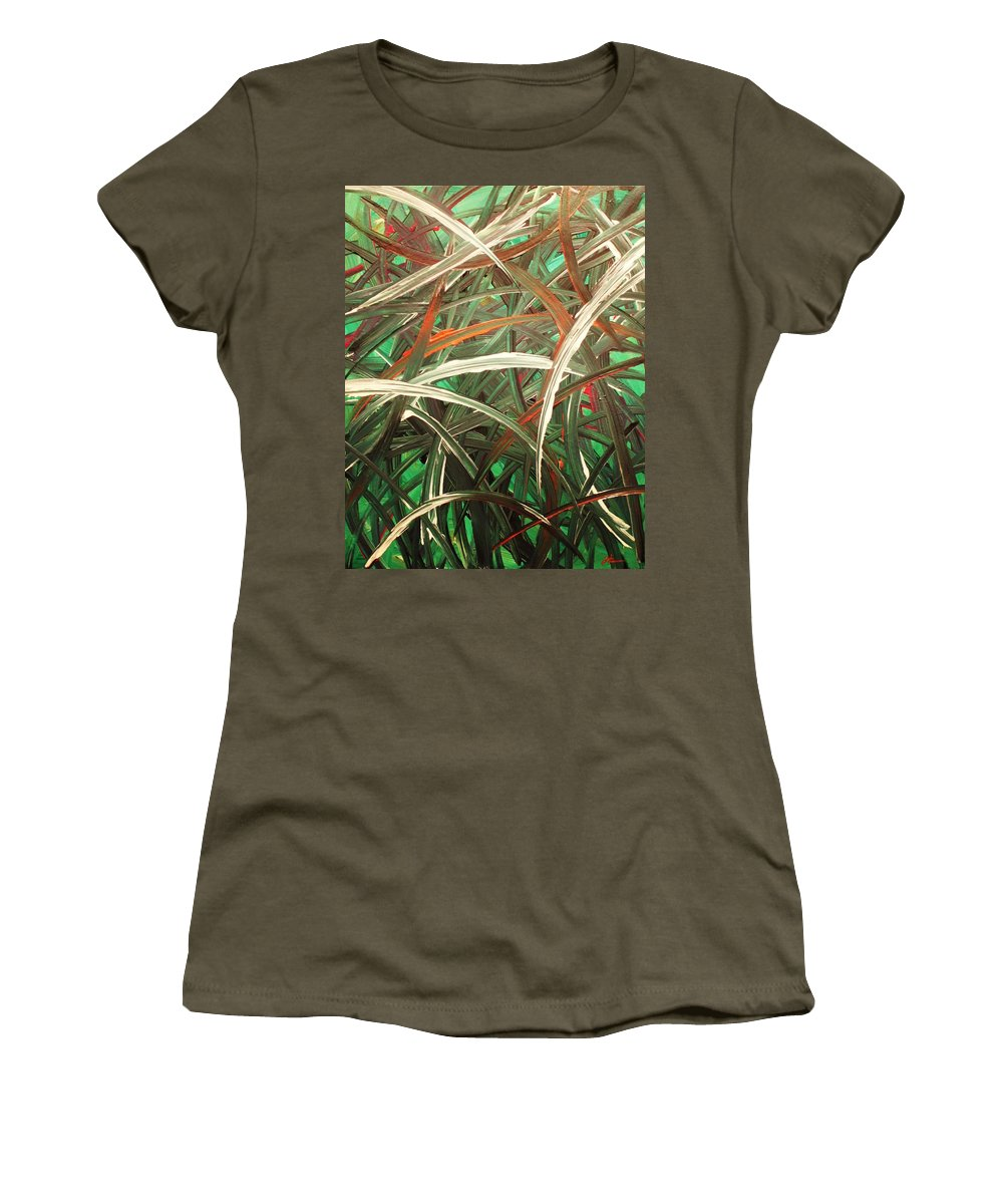 Abstract Women's T-Shirt featuring the painting Anxiety by Todd Hoover