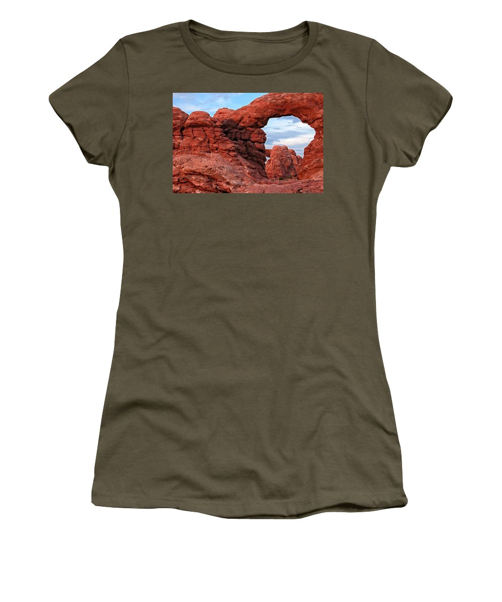 Arches Women's T-Shirt featuring the photograph Arches 11 by Ingrid Smith-Johnsen