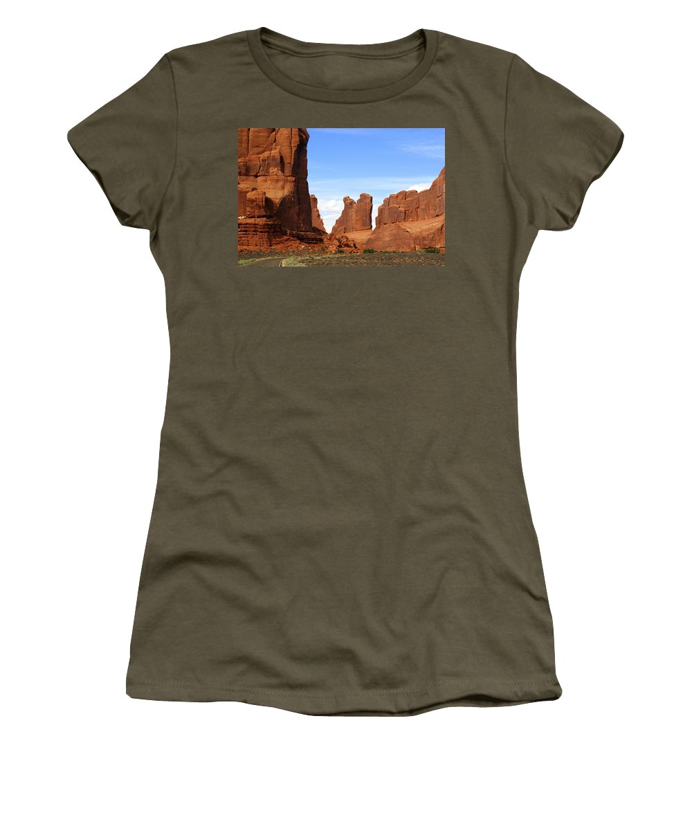Arches National Park Women's T-Shirt featuring the photograph Arches Park 2 by Marty Koch