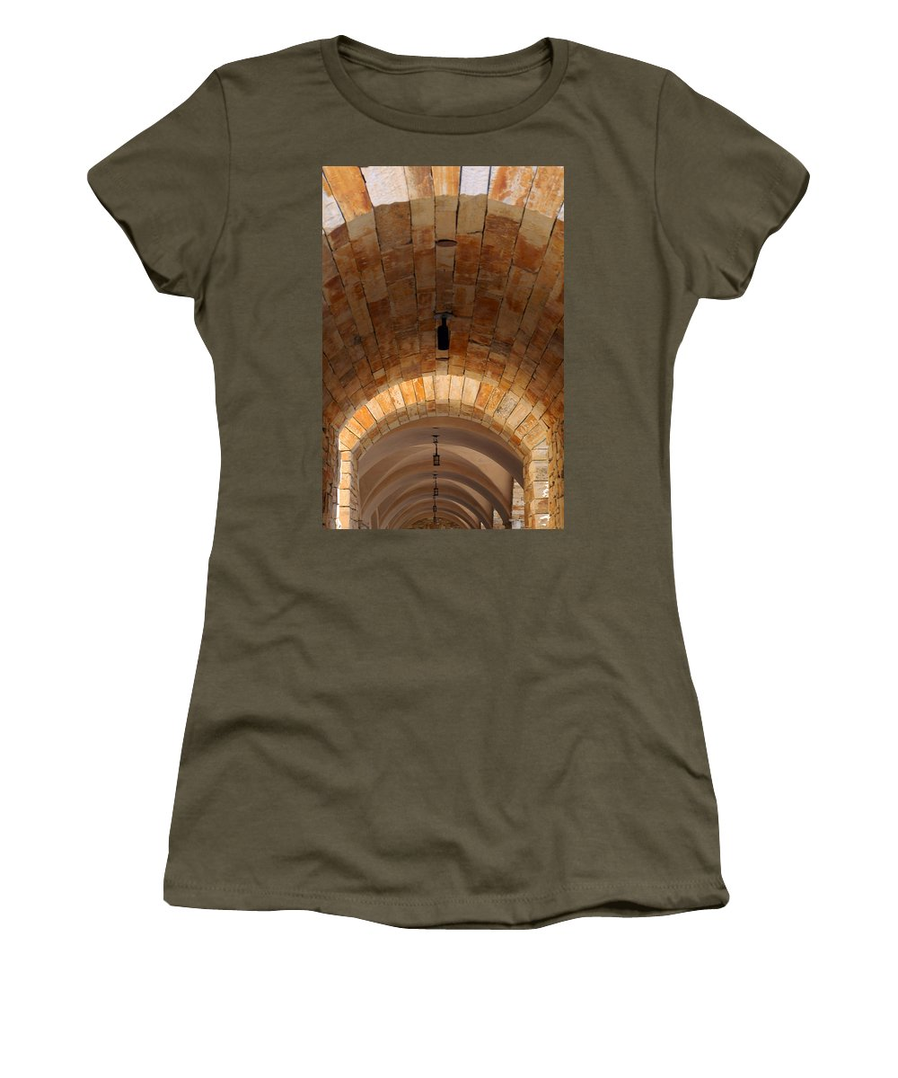 Architecture Women's T-Shirt (Athletic Fit) featuring the photograph Archway by Jill Reger