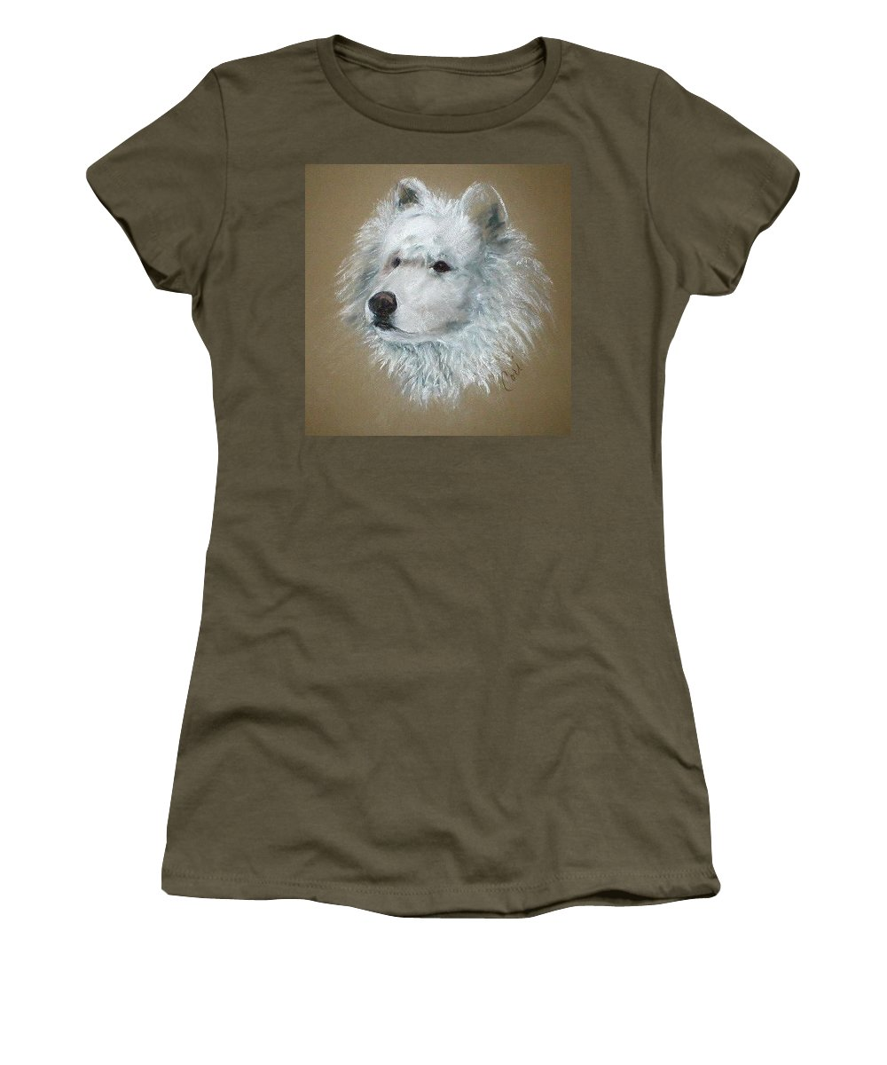 Pastel Women's T-Shirt (Athletic Fit) featuring the drawing Arctic Majestry by Cori Solomon