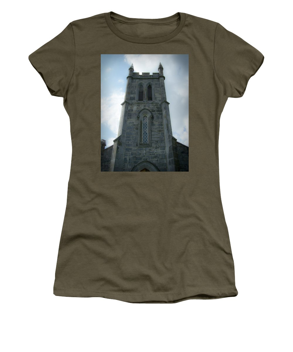 Irish Women's T-Shirt featuring the photograph Ardcroney Church County Clare Ireland by Teresa Mucha
