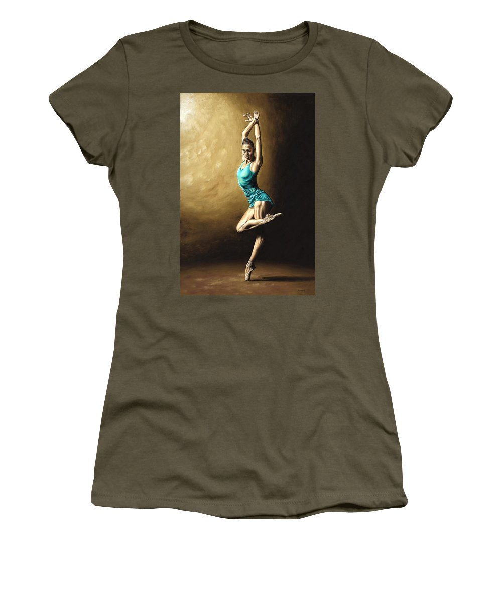 Dance Women's T-Shirt (Athletic Fit) featuring the painting Ardent Dancer by Richard Young