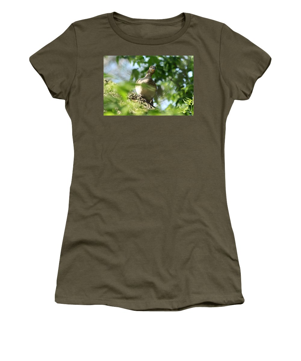 Immature Women's T-Shirt featuring the photograph Are You There by Lori Tordsen