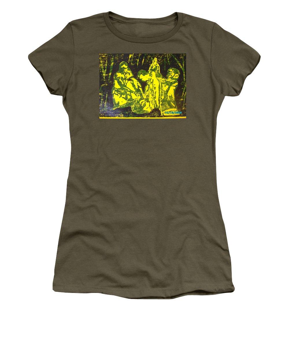 Festival Women's T-Shirt featuring the mixed media Argungun Festival 2 by Olaoluwa Smith