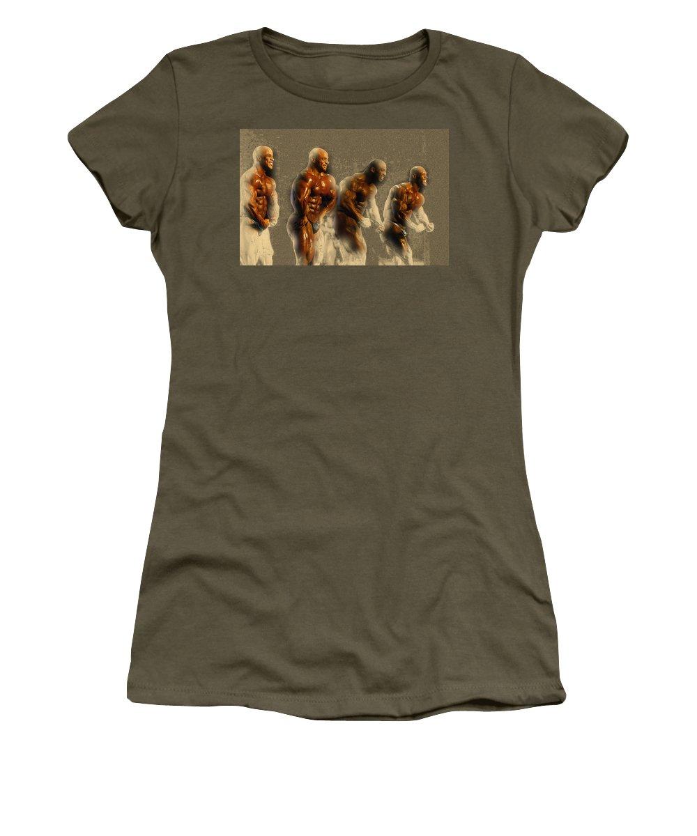 Decorative Women's T-Shirt featuring the digital art Arnold Classic Brazil 2015 In Rio De Janeiro by Don Kuing