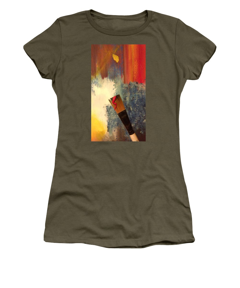 Paint Women's T-Shirt featuring the photograph Artfelt by Thomas Chasm