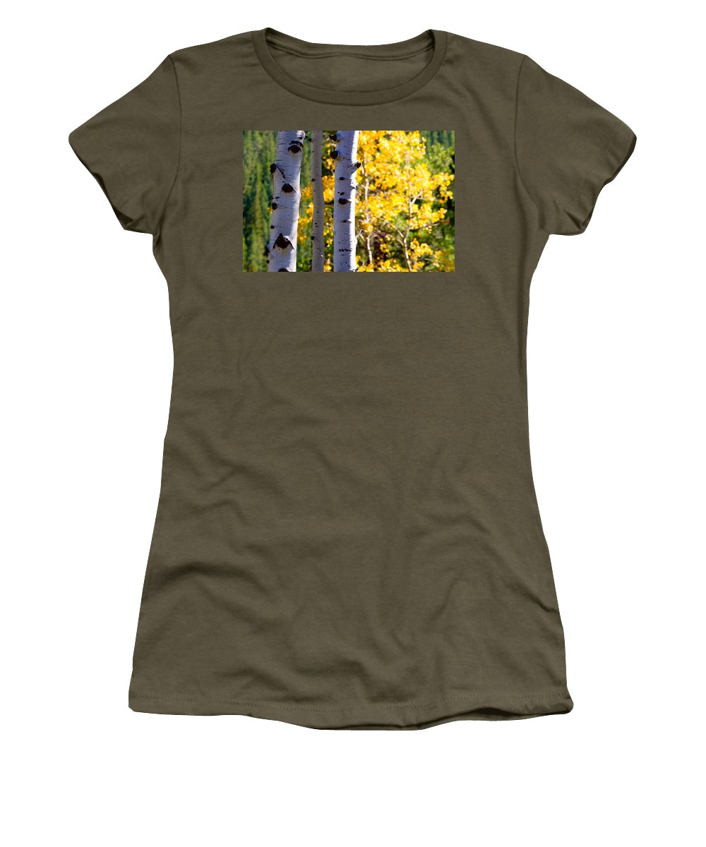 Aspens Women's T-Shirt featuring the photograph Aspen Color by James BO Insogna