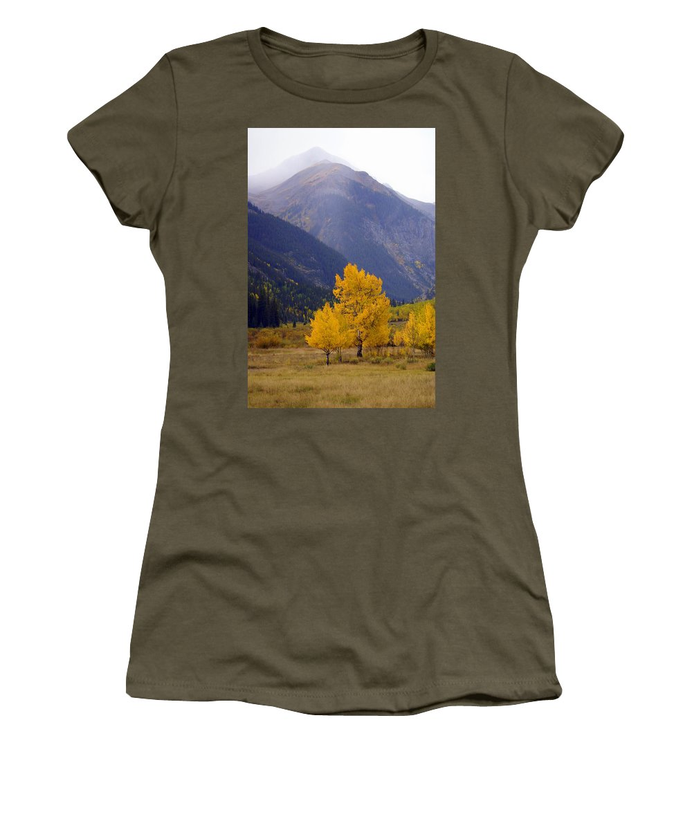 Fall Colors Women's T-Shirt featuring the photograph Aspen Fall 4 by Marty Koch