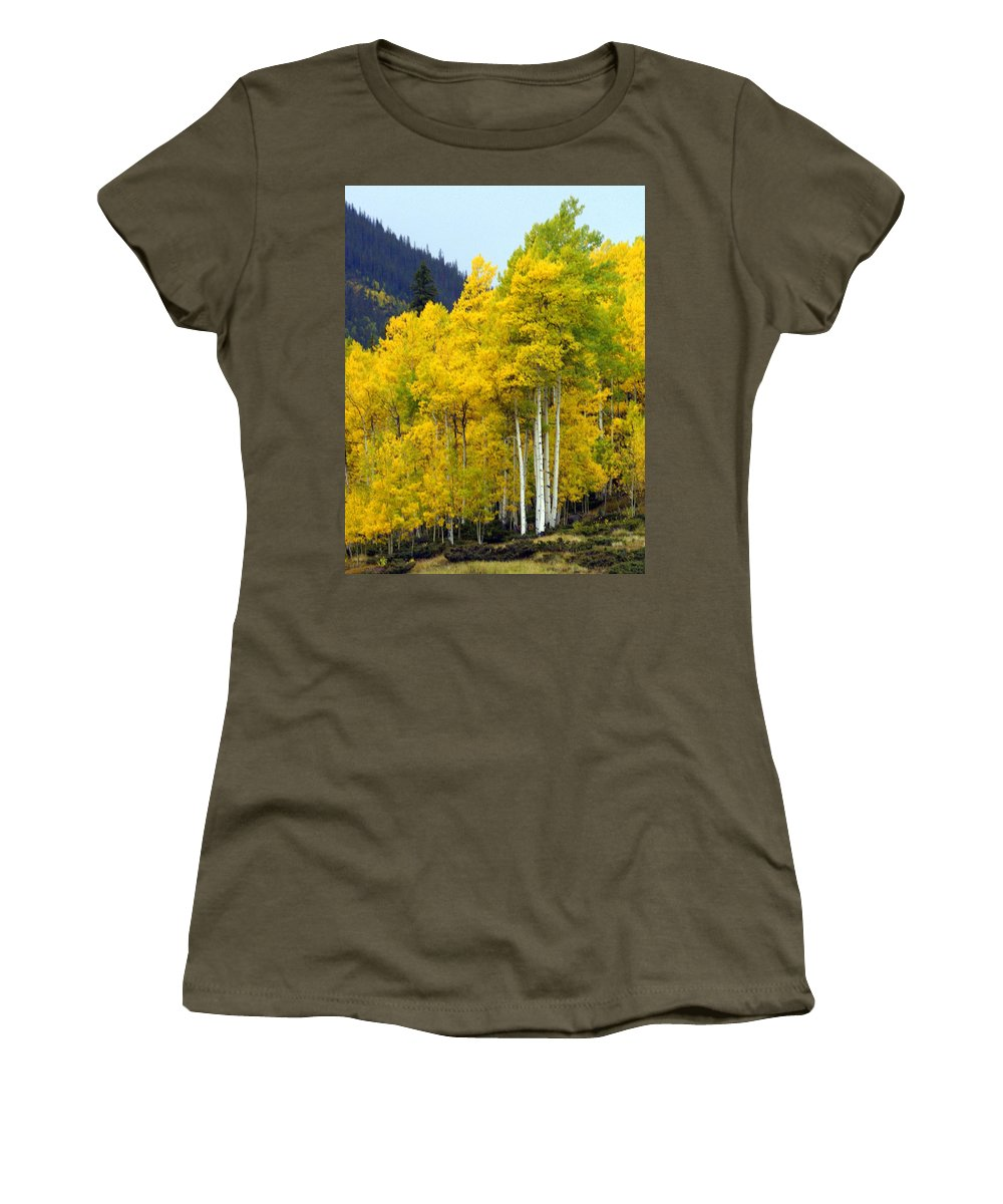 Fall Colors Women's T-Shirt featuring the photograph Aspen Fall by Marty Koch