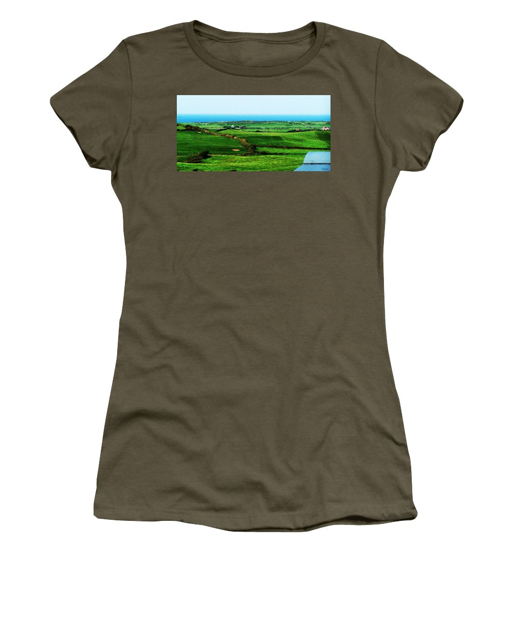 Ireland Women's T-Shirt (Athletic Fit) featuring the photograph Atlantic View Doolin Ireland by Teresa Mucha