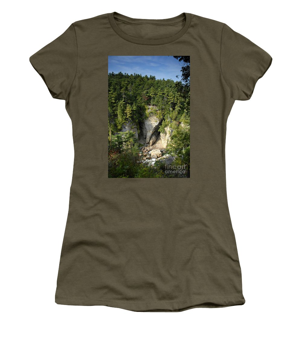 Ausable Chasm Women's T-Shirt (Athletic Fit) featuring the photograph Ausable Chasm by David Lee Thompson