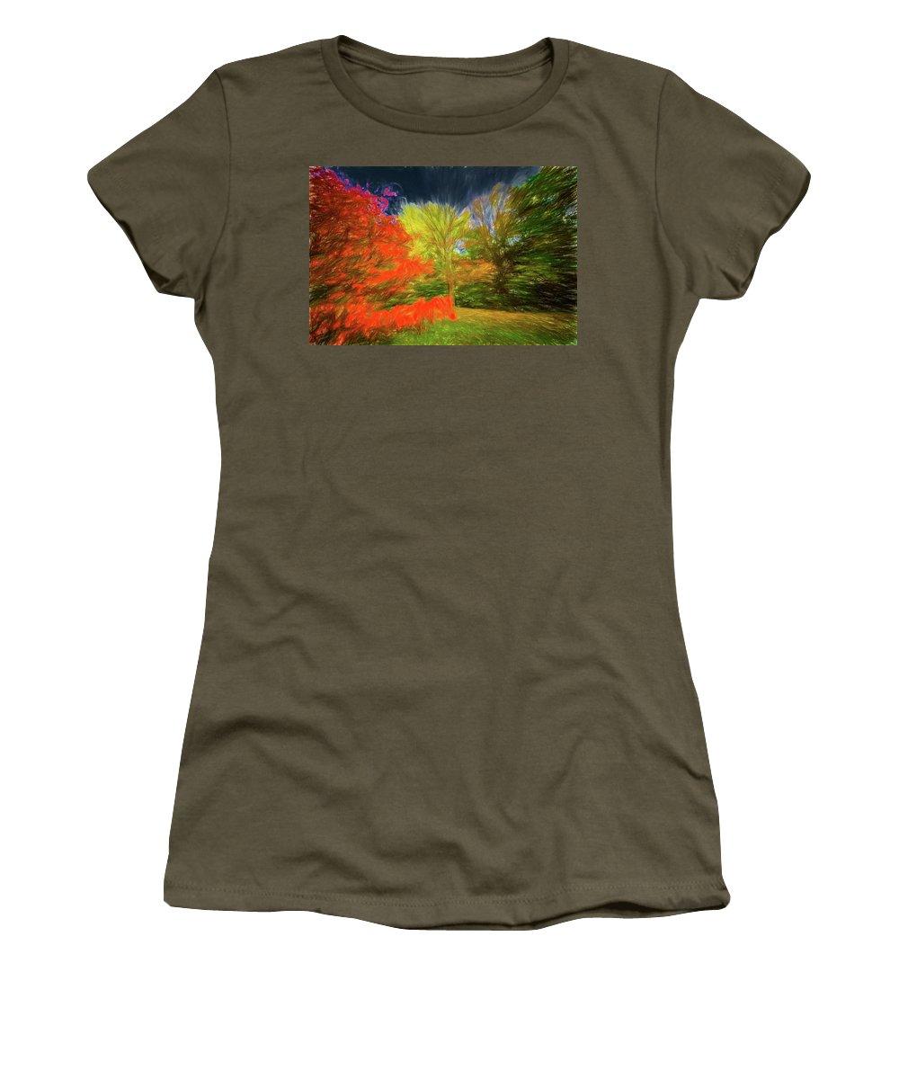 Michael Setiabudi Women's T-Shirt featuring the photograph Autumn H3 by Michelle Saraswati