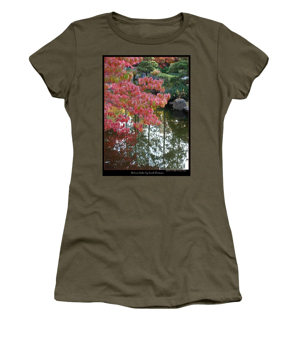 Colorful Women's T-Shirt (Athletic Fit) featuring the photograph Autumn Color Poster by Carol Groenen